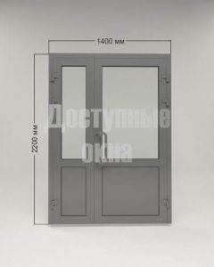 Алюминиевая дверь 1400 мм