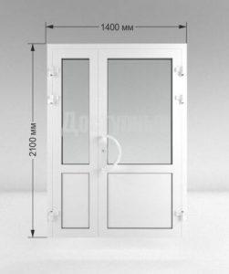 Дверь ПВХ 1400 мм